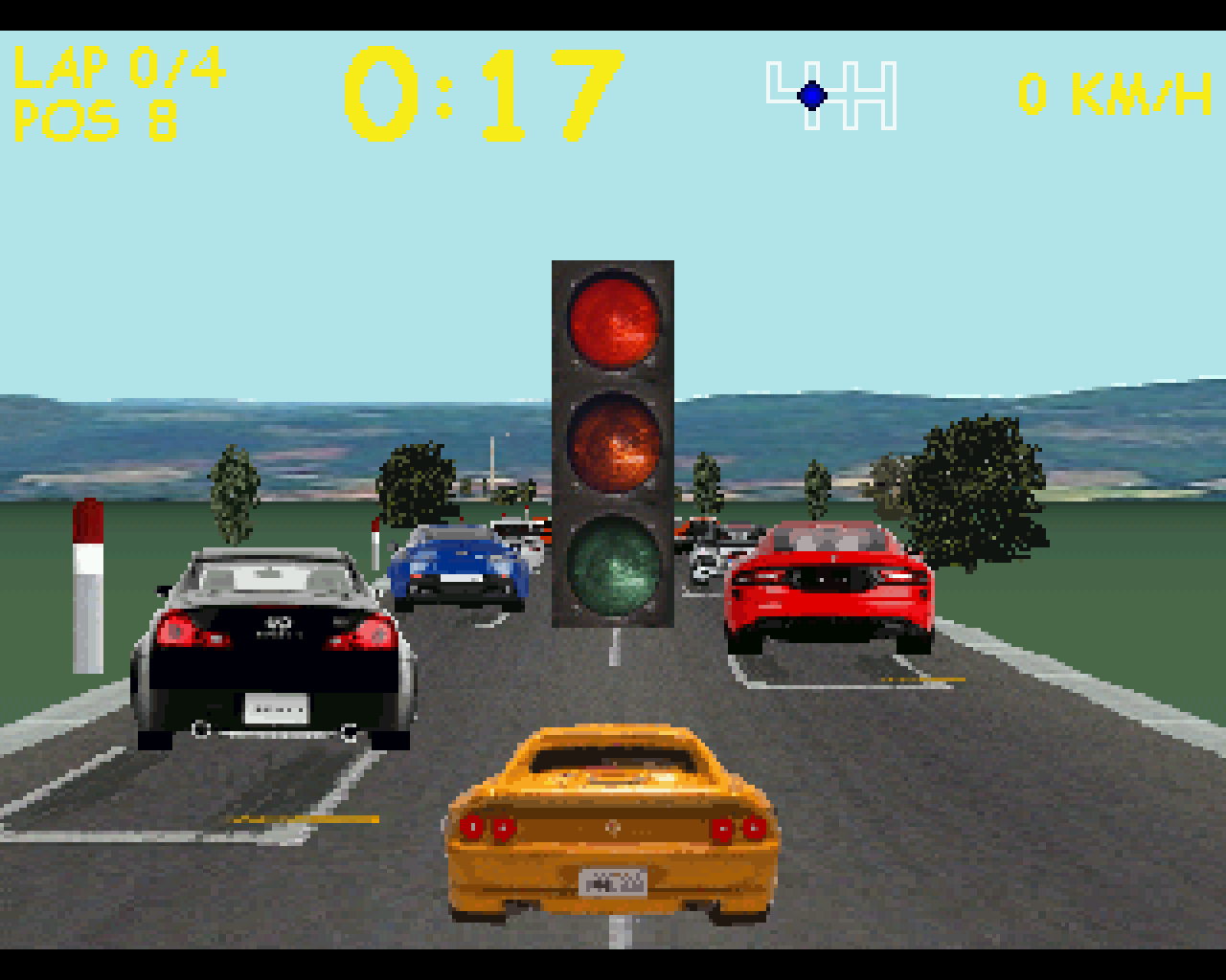Racer auf dem Atari Falcon 030 (Titelbild)